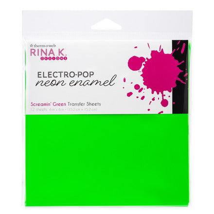 Rina K Designs Neon Enamel Transfer Sheets - Screamin' Green