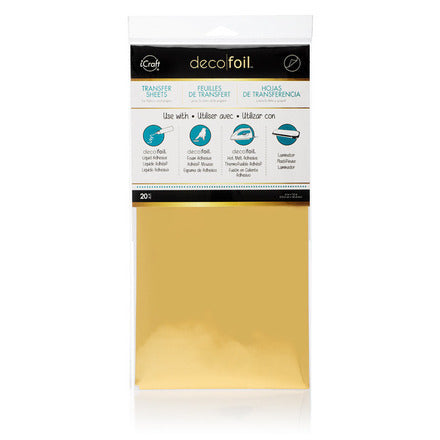 "Deco Foil 6"" x 12"" Sheets (20) - Gold"