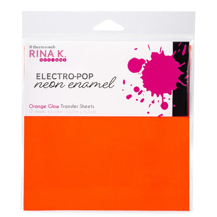 Rina K Designs Neon Enamel Transfer Sheets - Orange Glow