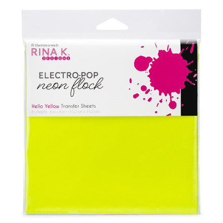Rina K Designs Neon Flock Sheets - Hello Yellow