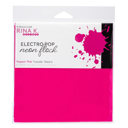 Rina K Designs Neon Flock Sheets - Poppin' Pink