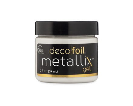 Deco Foil Metallix Gel 2oz - White Pearl