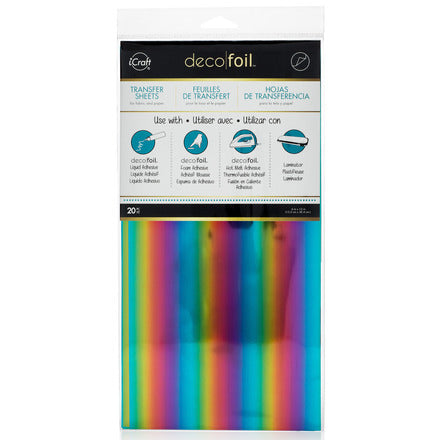 "Deco Foil 6"" x 12"" Sheets (20) - Rainbow"