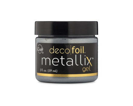 Deco Foil Metallix Gel 2oz - Glazed Pewter