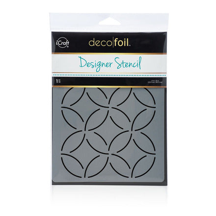 "Deco Foil Designer Stencil 6"" x 8"" - Abstract Circles"