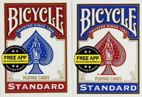 Bicycle Playing Cards Twin Pack - Red and Blue