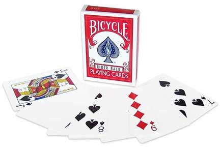 Bicycle Blank Back, Regular Face Deck - USPCC - Kaymar Magic
