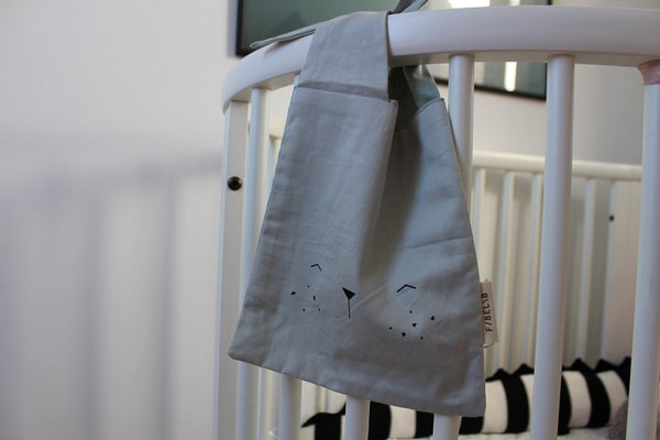 Fabelab bunny bag lunch bag icey grey.