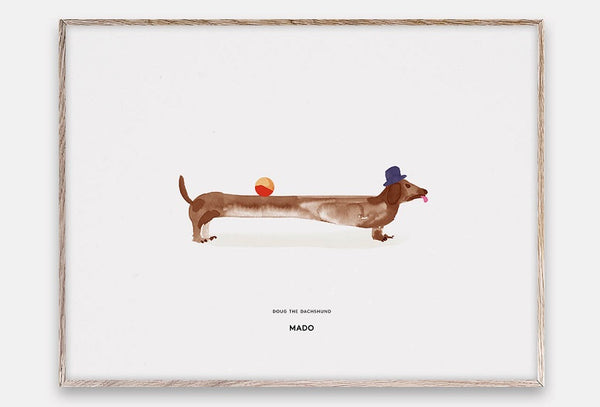 Mado plakat Doug the dachshund, 40 x 30 cm.