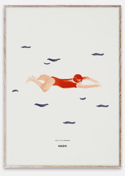 Sally the swimmer plakat.