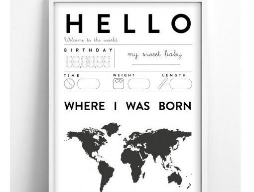 Hello World Plakat fra Tellkiddo.