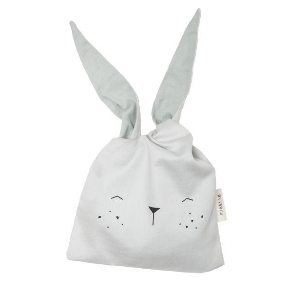 Fabelab lunch bag bunny icey grey