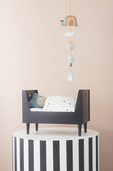 OYOY retro doll bed dark grey.