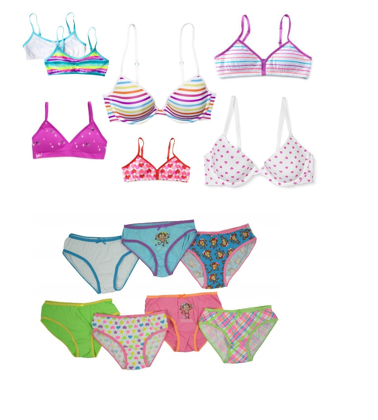 3f2ab775e0 Kids Wholesale Kids PANTIES Bras Girls Underwear and Sets Bralettes  Boyshorts and more