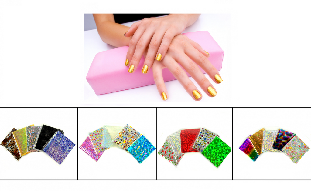 NailFash Assorted Nail-Foil Star Shine Nail Art - 36 packets