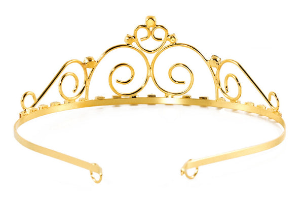 Royal Princess Swirl Tiara with Rhinestone Gems - 6 units