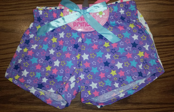 2Pack Girl's Cute Boxer Shorts Dots and Stars