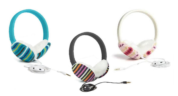 Copy of Chatties Wired Cozy Fashion Earmuffs with Built-in Speakers - Stripes
