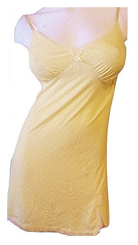 Slinky Yellow Chemise Nightie