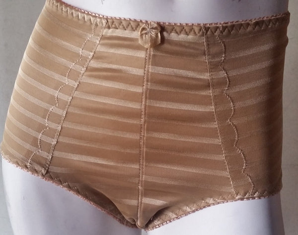 High-Waisted Gold-Striped Shaper Bottoms