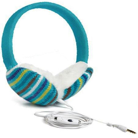 Chatties Wired Cozy Fashion Earmuffs with Built-in Speakers - Stripes