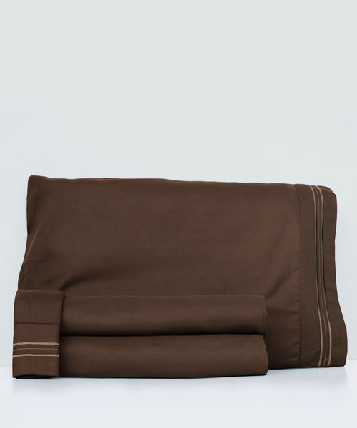 6 Sets of Full Size 4Piece Bedsheet Set  - BROWN