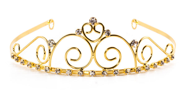 Beautiful Assorted Swirl Tiara with Rhinestone Gems - 6 units