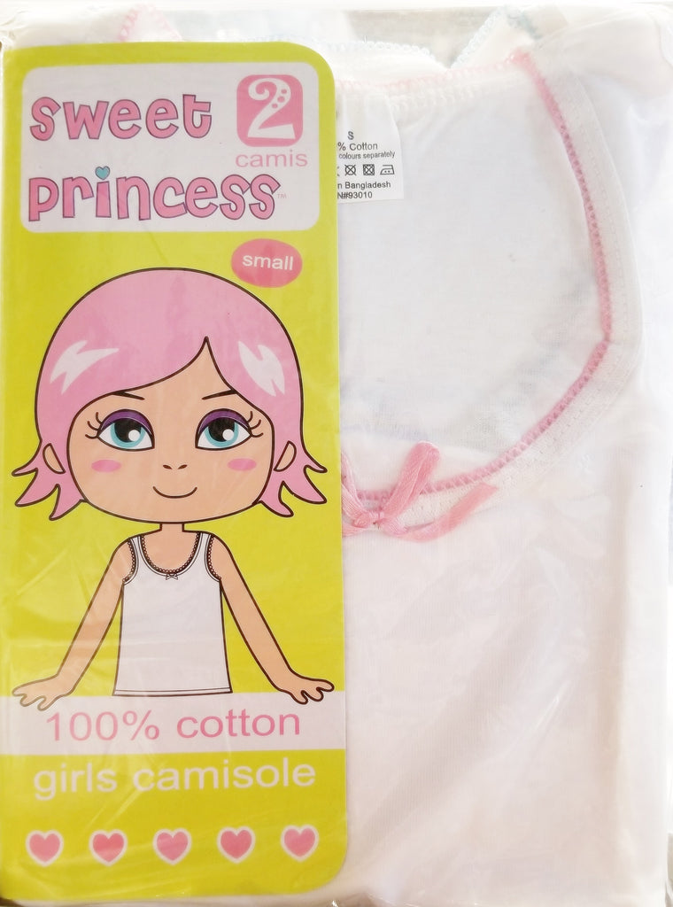 Girls 2pack 100% Cotton Cami Undershirts