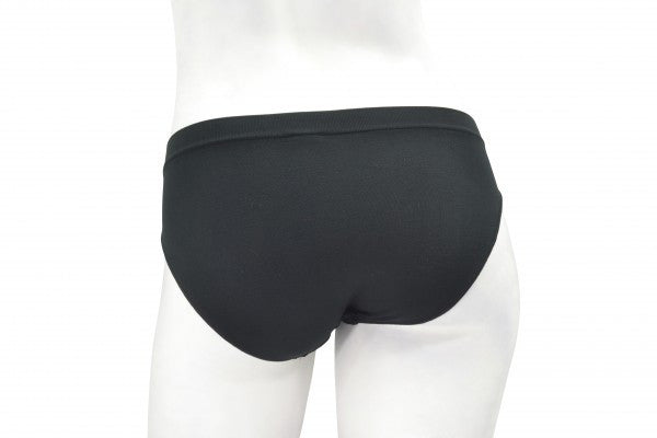 Women's Seamless Hi-Cut Black Panties