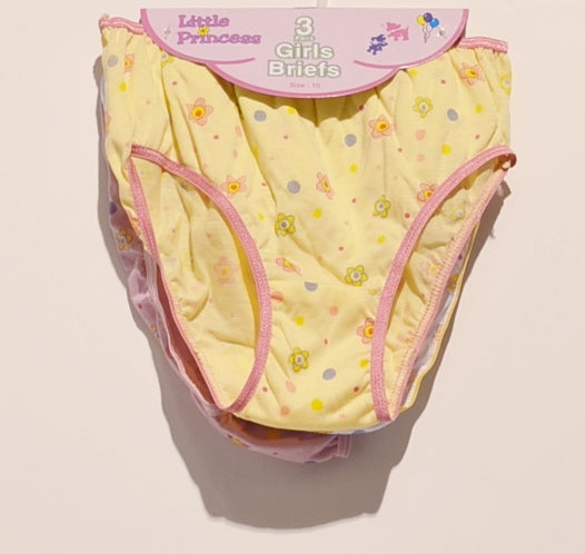3pc Kids Panties On Hanger