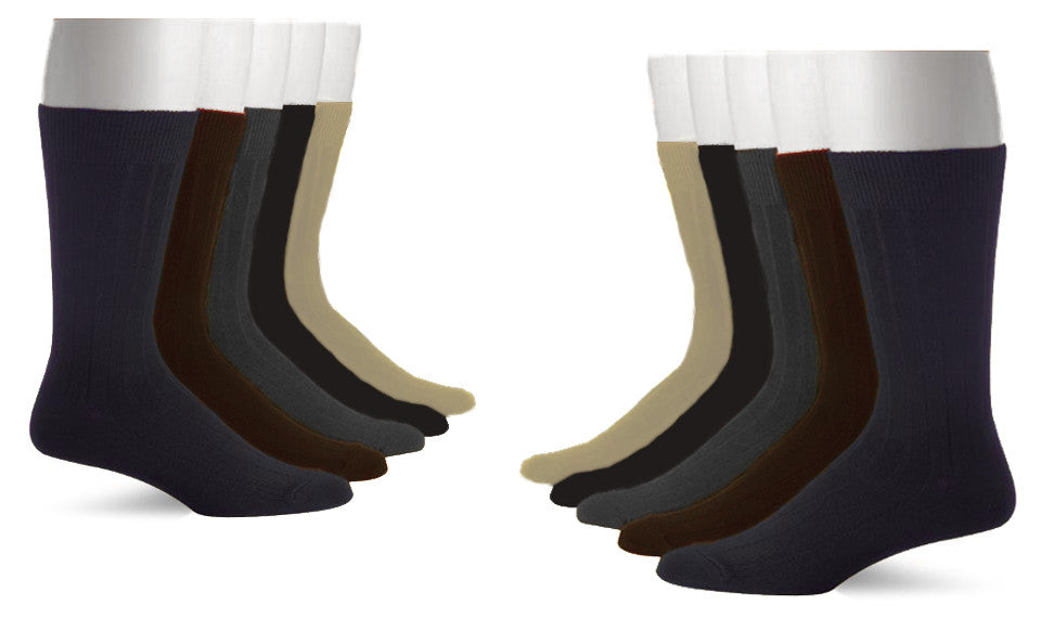 Wholesale - 5PK John Weitz Men's Dress Socks - Assorted Colors