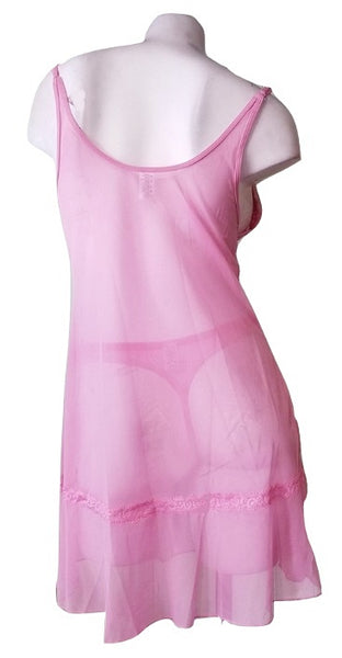 2 Piece Princess crown Nightie & Thong Set - Pink