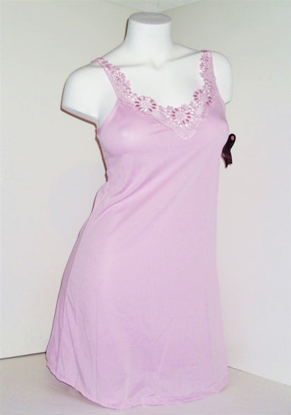 Pink Nightie with Embroidered Neckline
