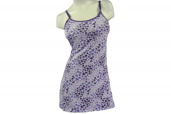 Slip-on Nightie - Purple Hearts