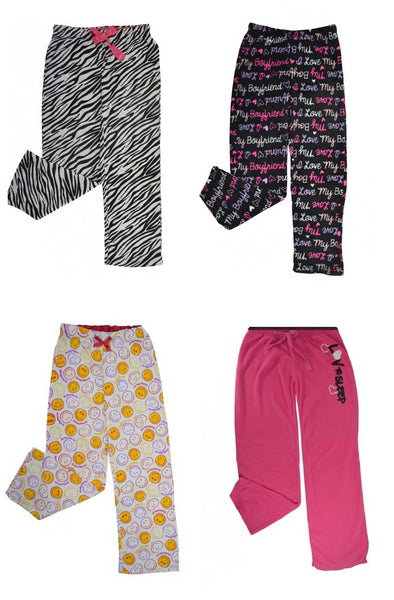 Wholesale Pajama Long Bottoms 24 Assorted Pieces