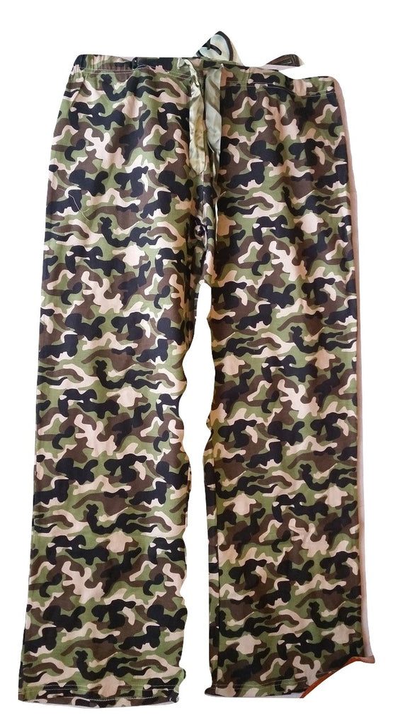 Plus-Size Pajama Long Bottoms - Camouflage