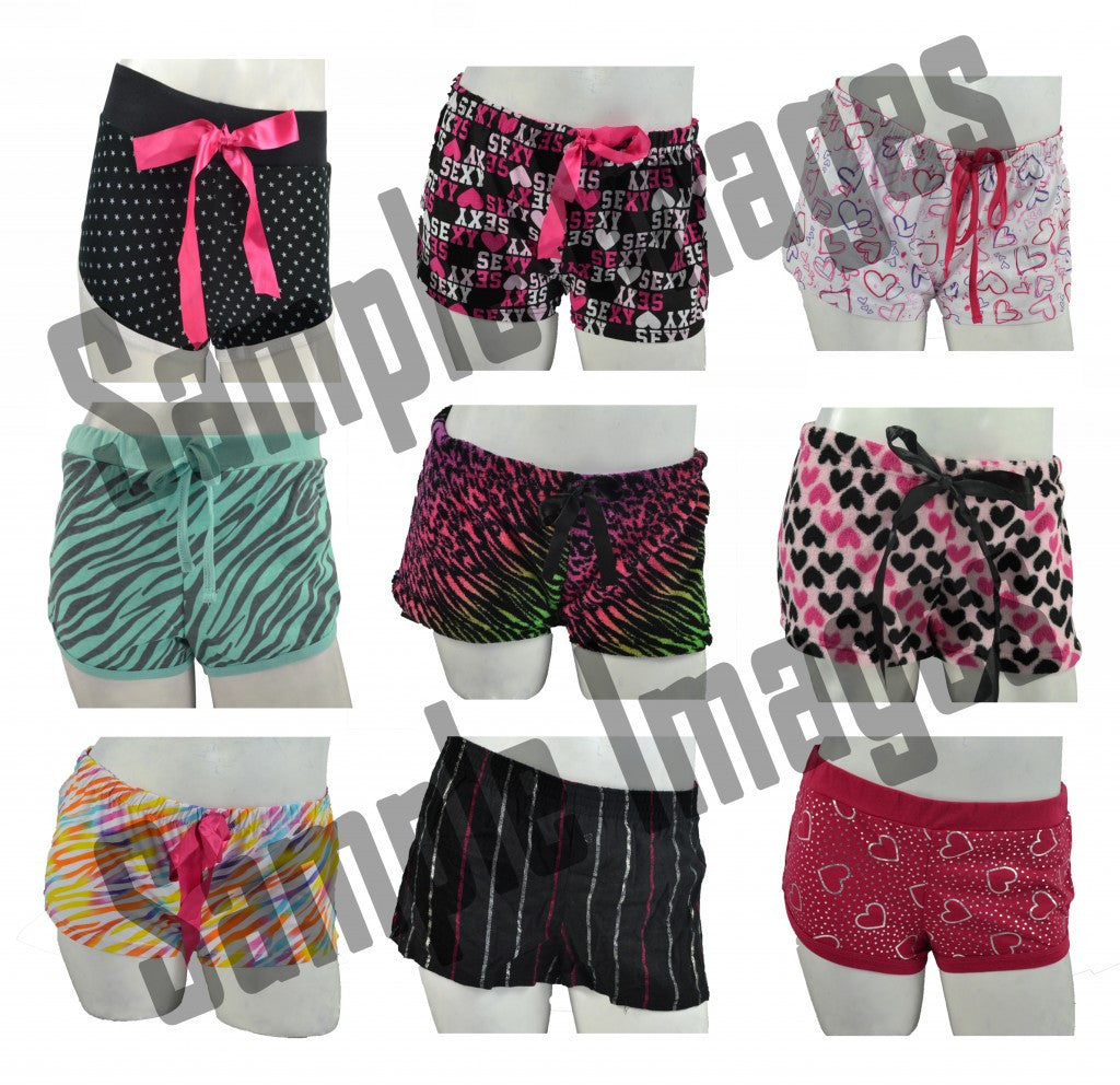 LINGERIE Wholesale Pajama Short Bottoms 24 Assorted Pieces