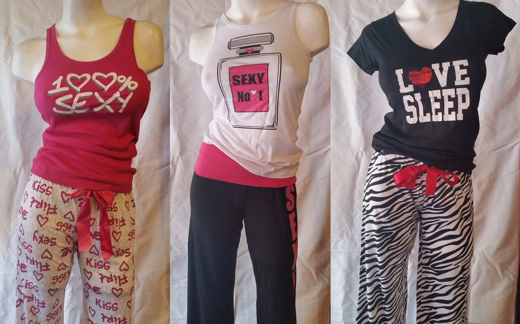 Wholesale Pajama Sets - Top + Long Bottoms 24 Assorted Pieces
