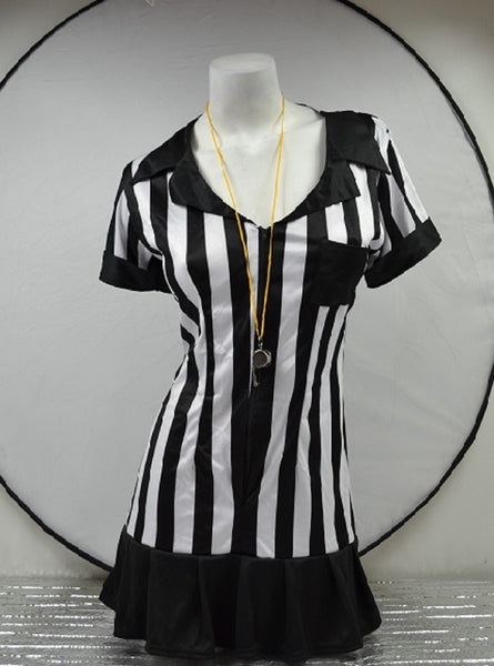 Women's Adult Referee Costume Halloween DressUp Outfit