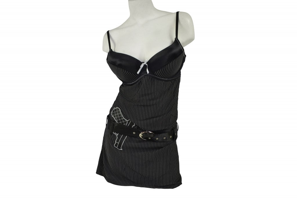 Women's Sexy Old-Time Gangsta Criminal Halloween DressUp Outfit