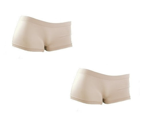 Smooth Seamless Boyleg Panties - Beige