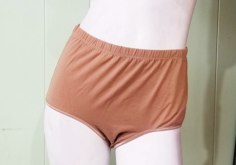 Brown Cotton Panties - Plus-Size Briefs