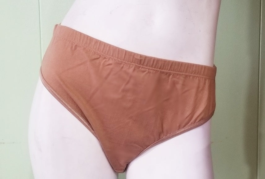 Brown Cotton Panties - Hi-Cut