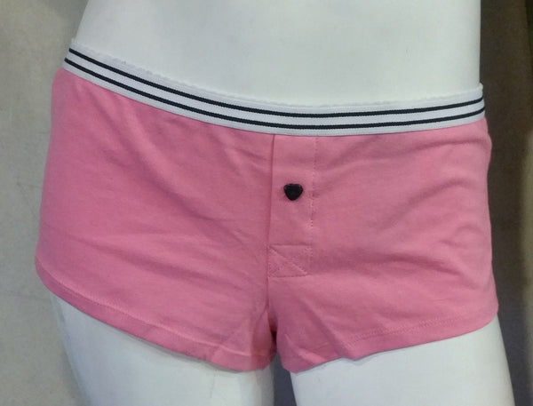 Pink Cotton Boyshorts with White Band
