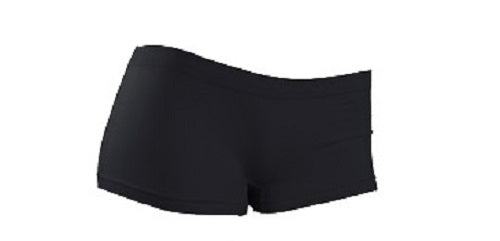 Smooth Seamless Boyshorts - Black LOVE