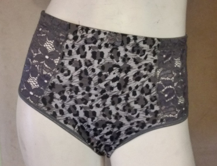 Women's Lace-Front Briefs 3packs Leopard Animal Print