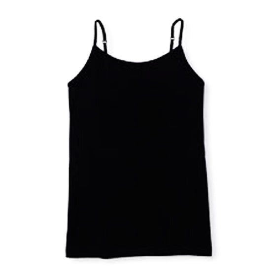 Girls' Cami Top with Shelf-Bra - Black