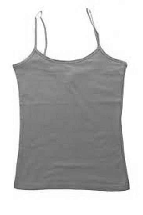 Girls' Cami Top with Shelf-Bra - Gray