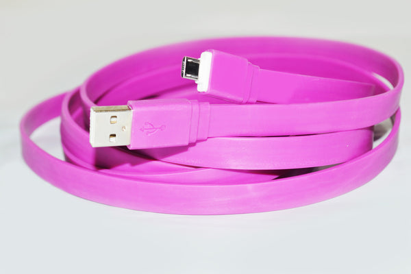 10ft Long USB TANGLE FREE Charging Cable - Assorted  Colors