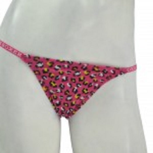 Joe Boxer 3pack Thongs - Pink Leopard